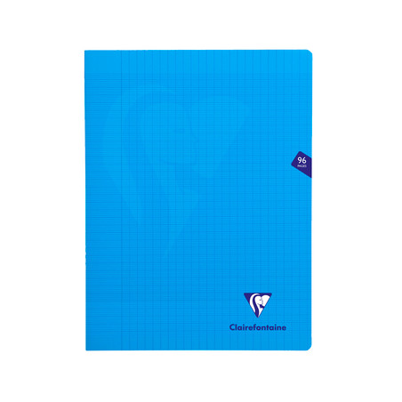 CLAIREFONTAINE CAHIER MIMESYS 24X32CM 96 PAGES SEYES BLEU