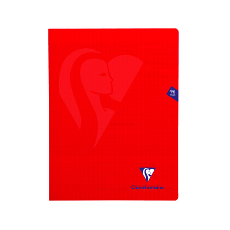 CLAIREFONTAINE CAHIER MIMESYS 24X32CM 96 PAGES SEYES ROUGE