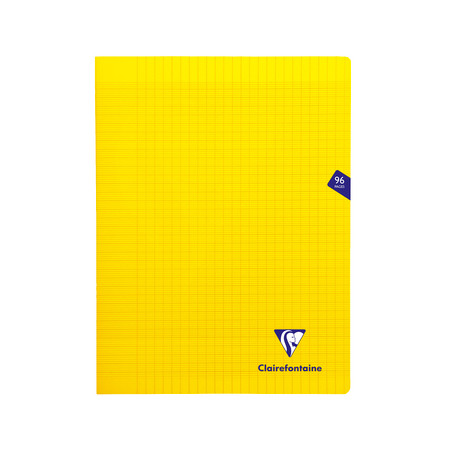 CLAIREFONTAINE CAHIER MIMESYS 24X32CM 96 PAGES SEYES JAUNE