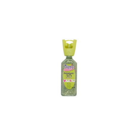 OZ DIAMS 3D, 37ML, PAILLETE CITRON VERT