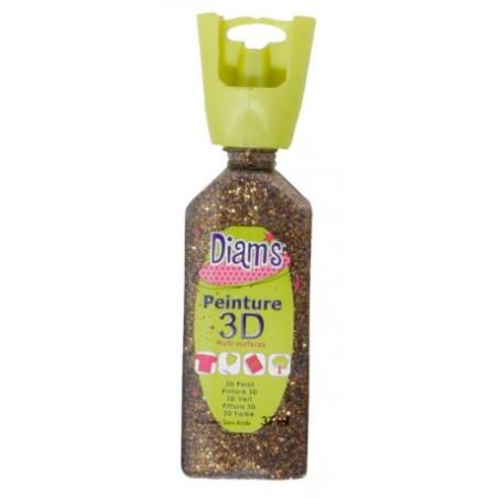 OZ DIAMS 3D, 37ML, PAILLETE BICOLORE NOUGATINE