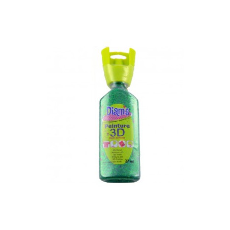 OZ DIAMS 3D, 37ML, PAILLETE VERT