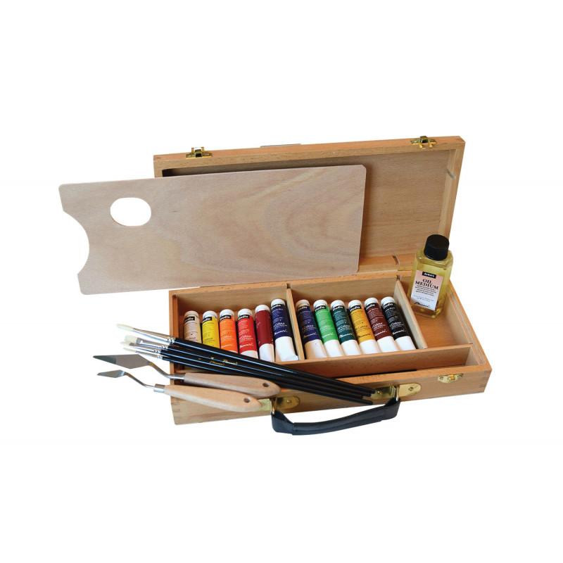 Peinture à l'huile en coffret Boesner