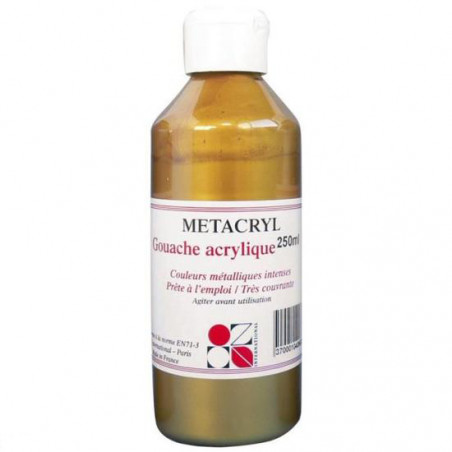 GOUACHE METALISEE METACRYL 250ML OR