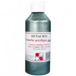 GOUACHE METALISEE METACRYL 250ML ARGENT ETAIN