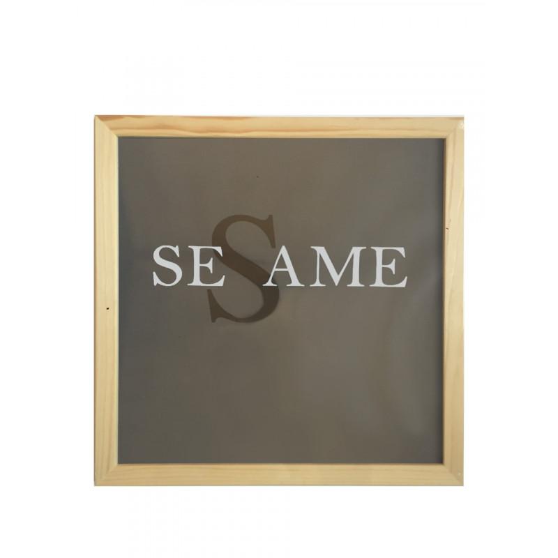 Cadres avec verre en bois brut — Sésame