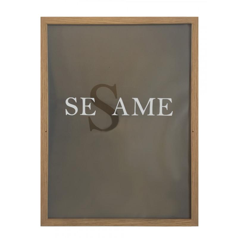 Cadres avec verre en chêne profil plat — Sésame