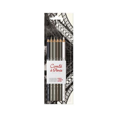 Assortiment de 6 Crayons à dessin — Conté à Paris