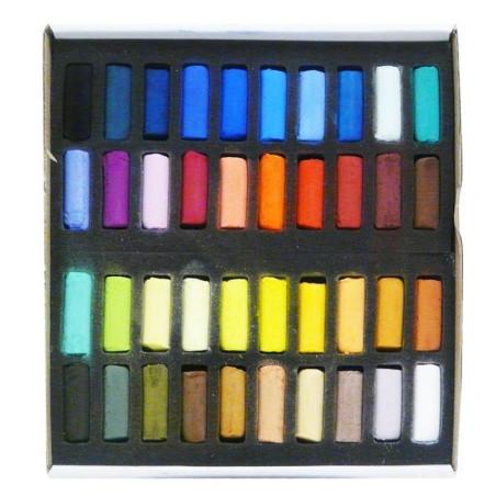 Boîte de 40 demi-pastels tendres à l'écu