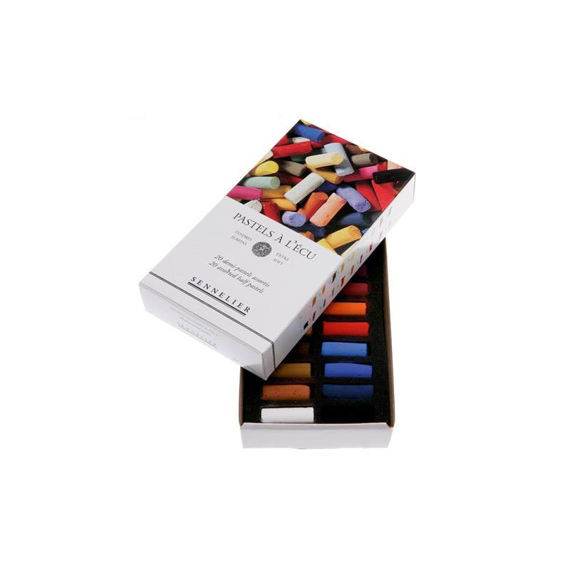 Boîte de 20 demi-pastels tendres à l'écu
