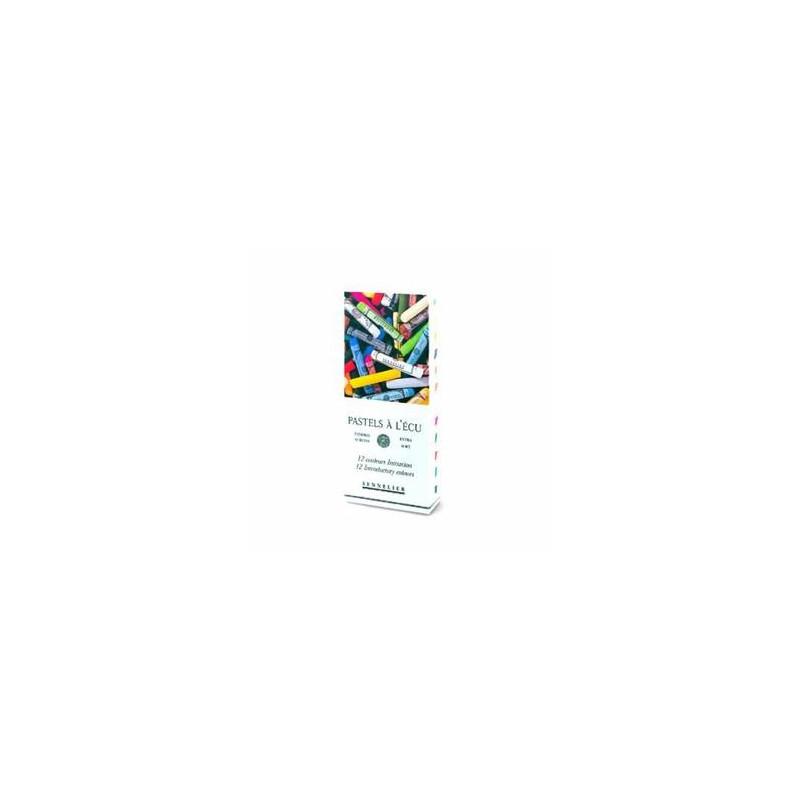 Boîte de 12 pastels initiation tendres à l'écu