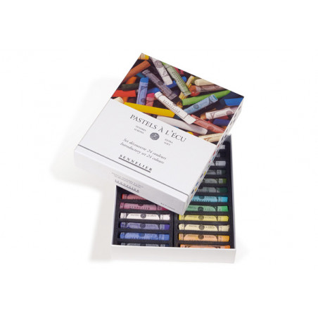 Boîte de 24 pastels tendres à l'écu