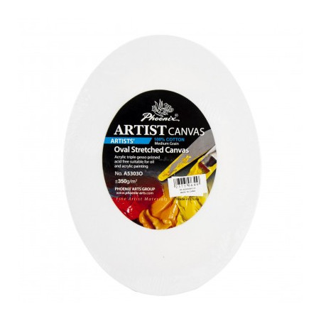 Châssis entoilés ovales en coton — Artist Canvas