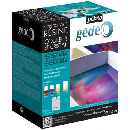 Set de découverte de résines couleurs et cristal assortis — Gédéo