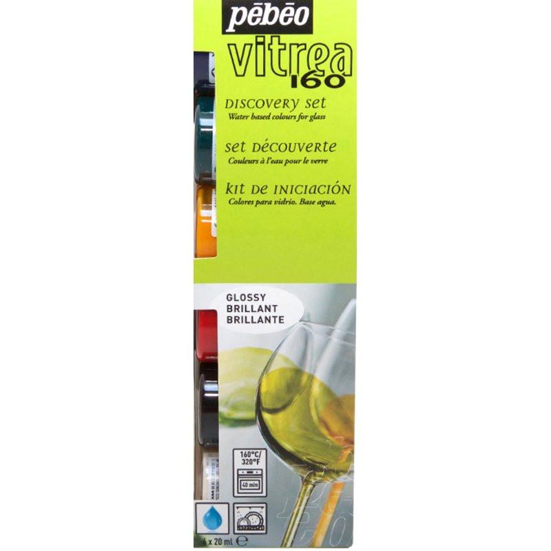 Set de découverte peinture Vitrea 160 Brillant — 6 X 20 ml