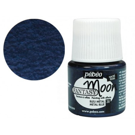 PEBEO FANTASY MOON 45ML BLEU METAL