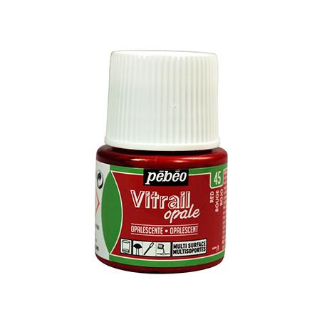 PEBEO VITRAIL OPALESCENTE SOLVANT 45ML ROUGE