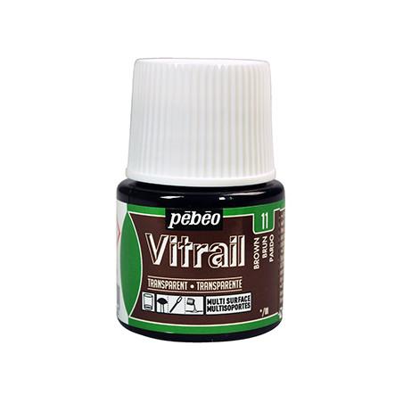 PEBEO VITRAIL SOLVANT 45ML  BRUN