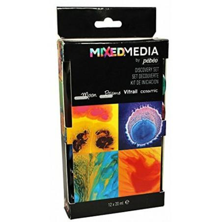 Set de découverte peinture Mixed Media 12 X 20 ml — Pébéo