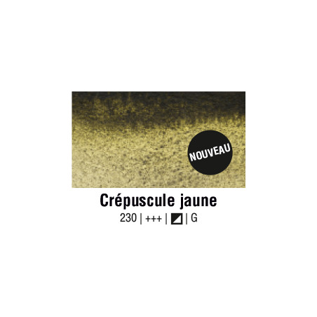 AQUARELLE VAN GOGH 1/2 GODET CREPUSCULE JAUNE S1
