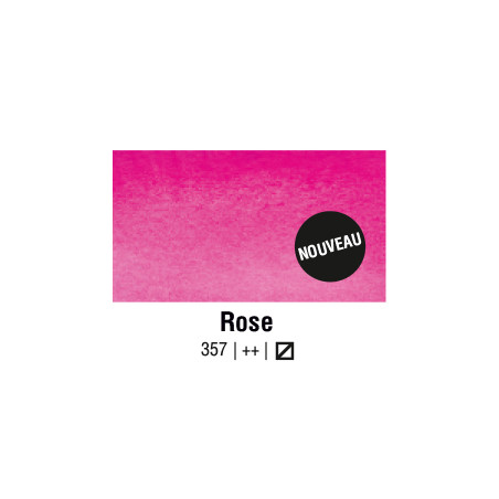 AQUARELLE VAN GOGH 1/2 GODET ROSE S1