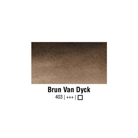 VAN GOGH AQUARELLE BRUN DE VAN DYCK 1/2 GODET