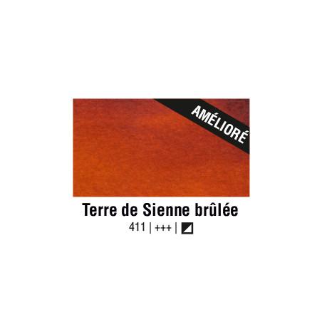 VAN GOGH AQUARELLE TERRE DE SIENNE BRULEE 1/2 GODET
