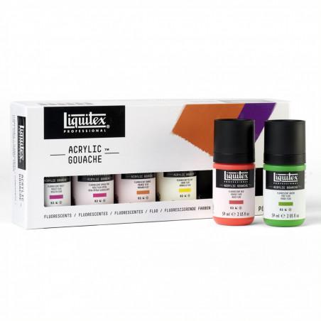 Set 6x59ml Liquitex acryl gouache couleur fluo –mailing mai