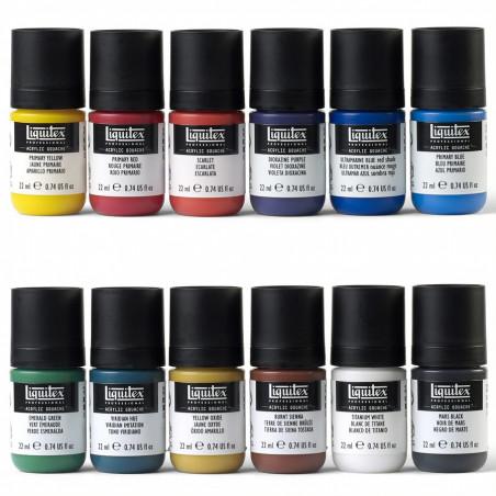 Set 12x22 ml Liquitex acryl gouache –mailing mai