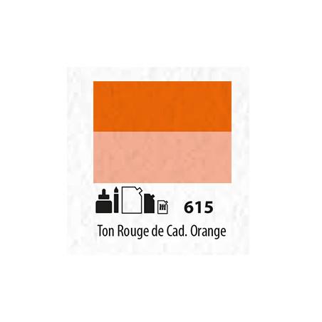 SENN ABSTRACT MAT 60ML TON ROUGE DE CADMIUM ORANGE 615