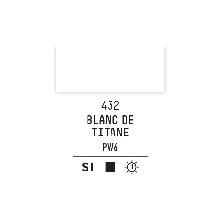 LQX PRO ACRYLIC GOUACHE MAT 59ML BLANC DE TITANE 432 S1