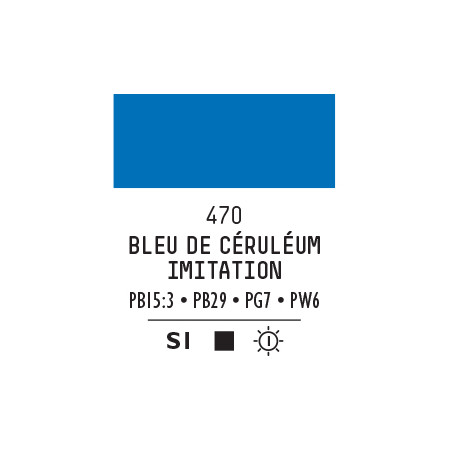 LQX PRO ACRYLIC GOUACHE MAT 59ML BLEU DE CERULEUM IMIT 470 S1