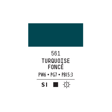 LQX PRO ACRYLIC GOUACHE MAT 59ML TURQUOISE FONCE 561 S1