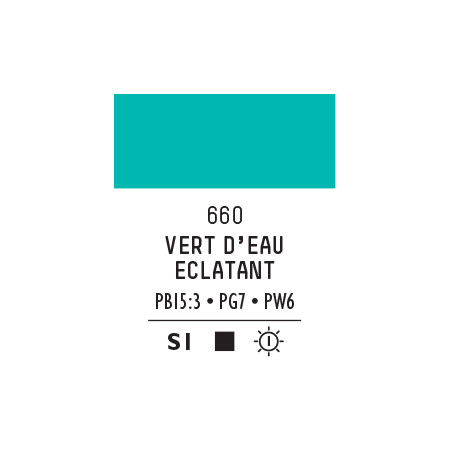 LQX PRO ACRYLIC GOUACHE MAT 59ML VERT D EAU BRILLANT  660 S1