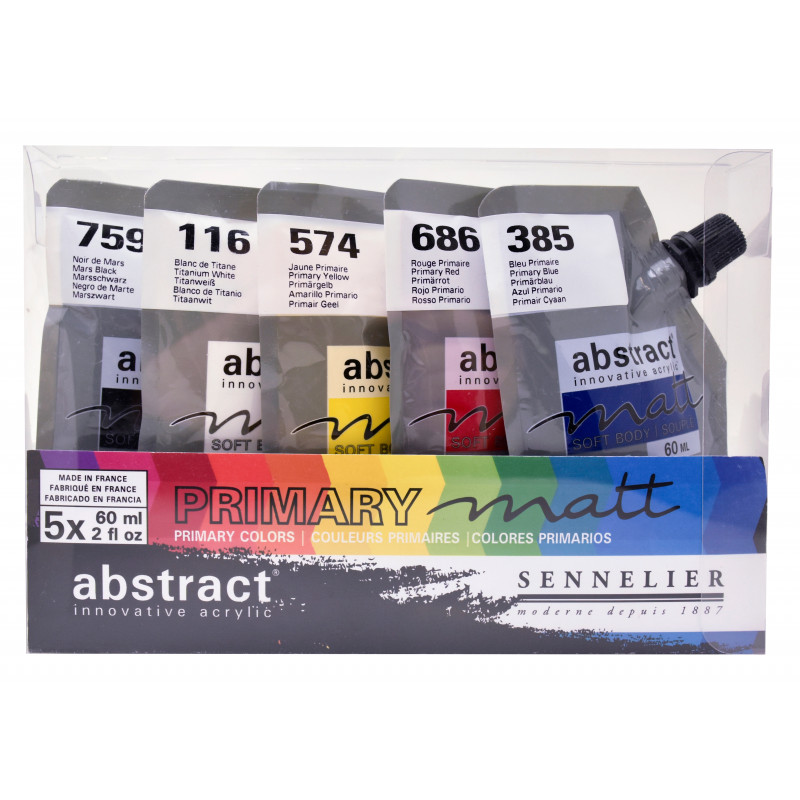 Set 5x60 ml abstract mat –mailing mai