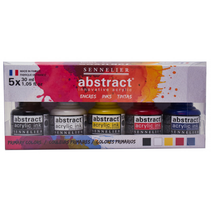 Assortiment encre acrylique Abstract 5 X 30 ml — Sennelier