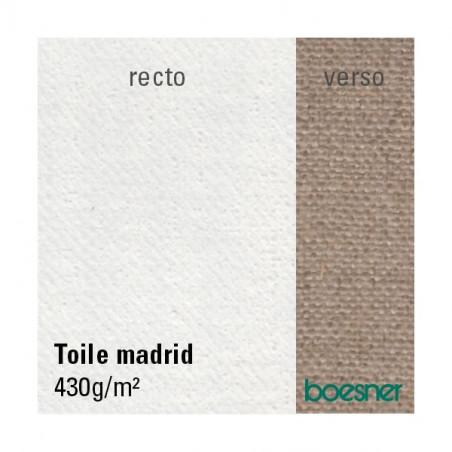Toile à peindre en lin apprêtée Blanc 430g/m² - Madrid