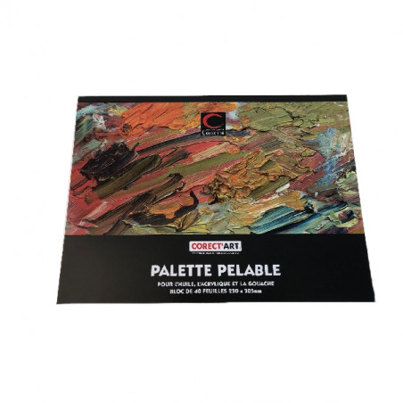 Palette pelable 40 feuilles 23 x 30.5 cm