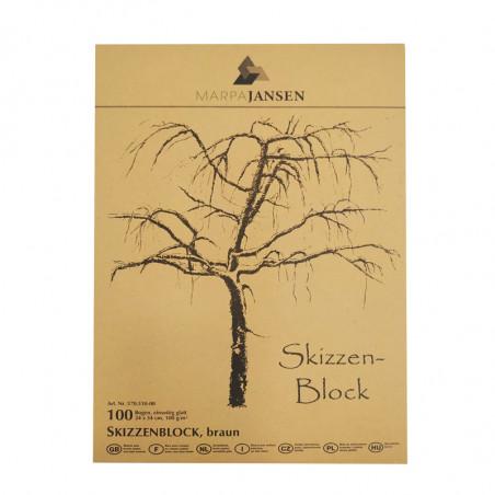 Bloc esquisse papier brun 100 g/m²