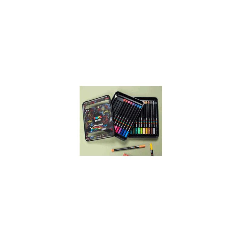 Assortiment de 24 marqueurs POSCA Pastel