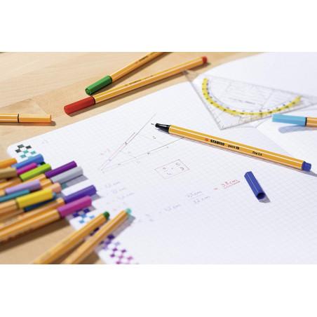 Pochette de 15 stylos feutre Stabilo Point 88