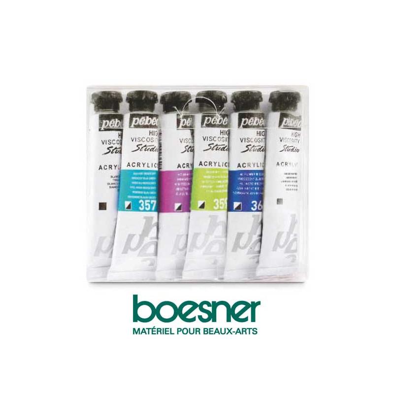 Assortiment de 6 tubes peinture acrylique Dyna — Pébéo