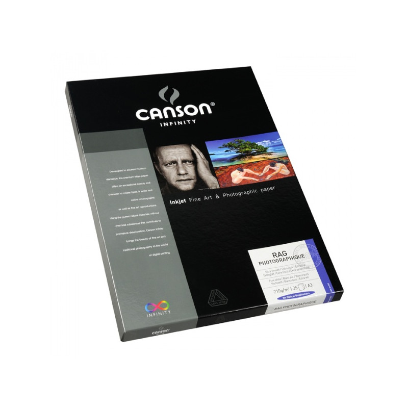CANSON INFINITY PAPIER IMPRESSION RAG PHOTO 210G A4 25F/A EFFACER