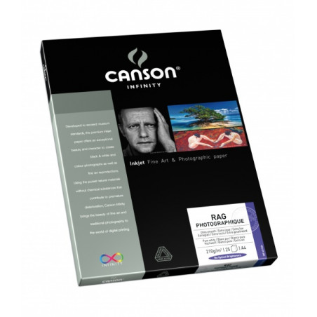 CANSON INFINITY PAPIER IMPRESSION RAG PHOTO 210G A4 25F