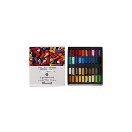 Coffret de 40 demi-pastels tendres à l'écu Sennelier