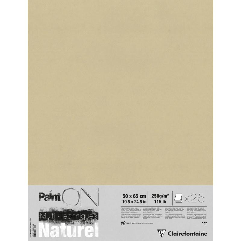 Papier kraft Paint'On 250 g/m² - 25 feuilles - Clairefontaine