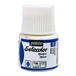 PEBEO SETACOLOR OPAQUE 45ML BLANC