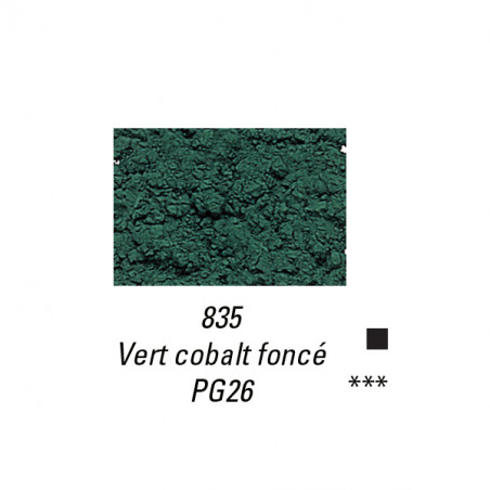 SENNELIER PIGMENT 120G S6 835 VERT COBALT FONCE