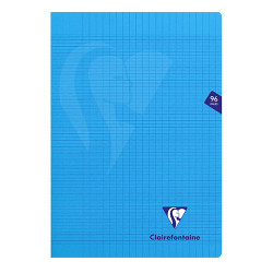 CLAIREFONTAINE CAHIER MIMESYS A4 96 PAGES SEYES BLEU