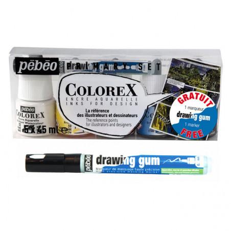 PEBEO COLOREX BOITE 5X45ML + 1 MARQUEUR